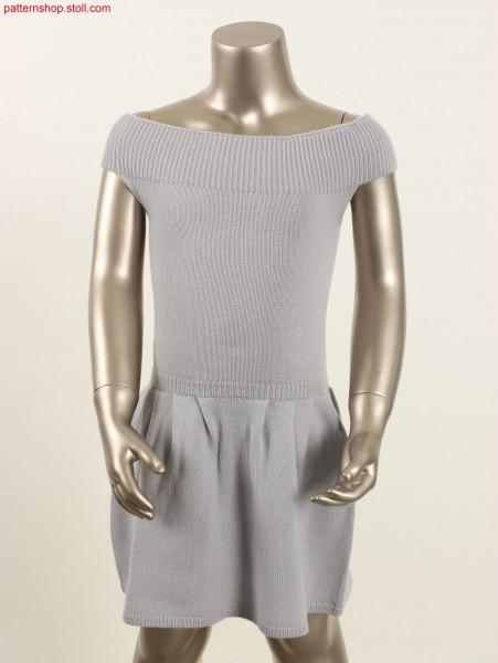 Jersey dress with skirt pleats by Fair Isle technique / Rechts-Links Kleid mit Rockfalten durch Fair Isle Technik