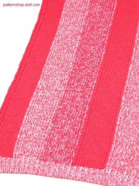 3 - Colour jersey intarsia / 3 - Farbiges R-L Intarsiamuster
