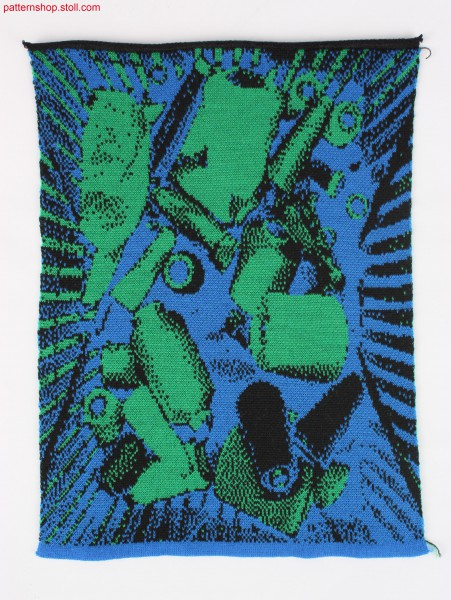 With Stoll-Autocreate® prepared 3-colour-jacquard / Mit Stoll-Autocreate® erstellter 3-farbiger Jacquard