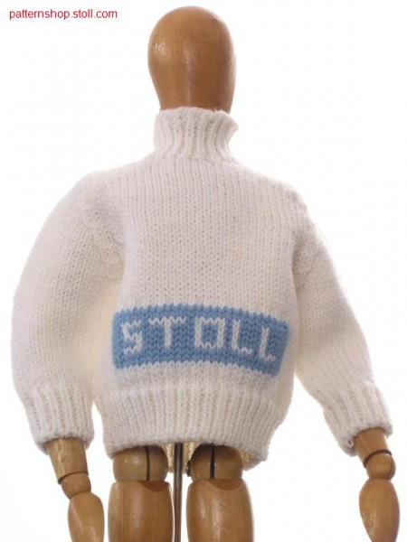 Mini pullover with saddle shoulder / Minipullover mit Sattelschulter