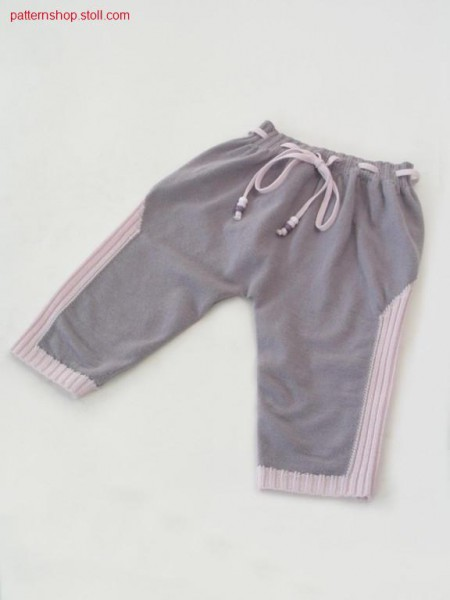 Intarsia baby's trousers with seat region in gore technique / Intarsia Babyhose mit gespickelter Ges