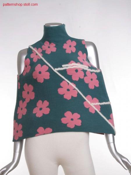 Fully fashion cape with cross tubular jacquard / Fully Fashion Umhang mit Kreuzschlauchjacquard