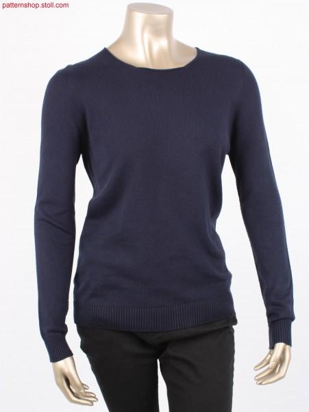 Jersey women's crew-neck pullover / Rechts-Links Damen-Rundhalspullover