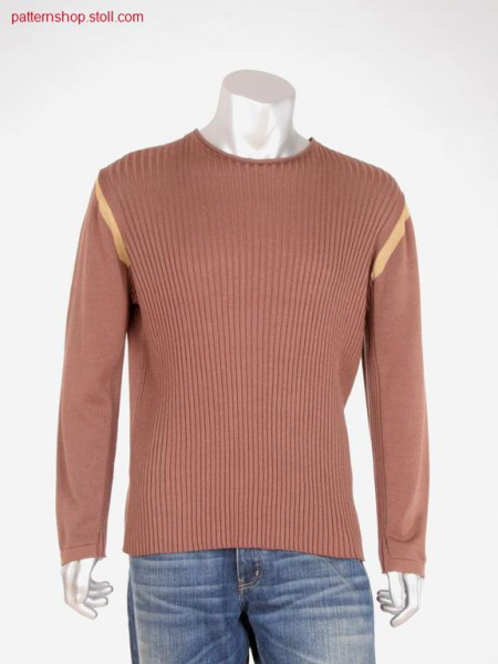 FF pullover in 4x3 rib-jersey / FF Pullover in 4x3 Rippe-Rechts-Links