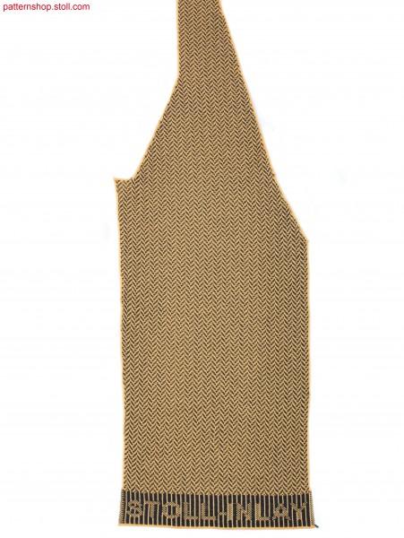 Left Fully Fashion vest front part / Linkes Fully FashionWestenvorderteil
