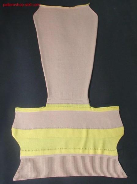 2x2 collar - RR collar - RL sleeve / 2x2 Kragen - RR Kragen -RL Armteil