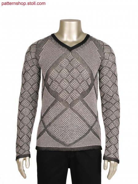 Fully Fashion pullover with float structure combination