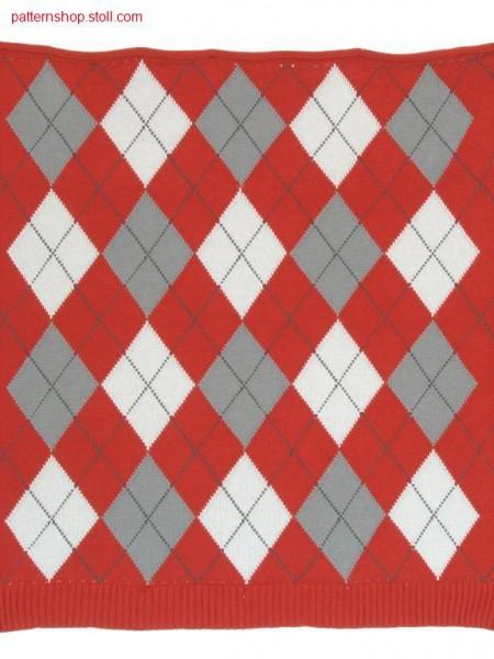 Burlington-intarsia pattern with 25 intarsia yarn carriers /Burlington-Intarsiamuster mit 25 Intarsia Fadenf