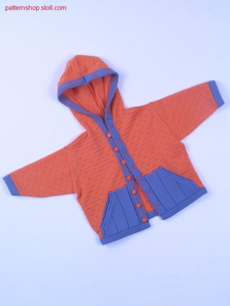 Fully Fashion-intarsia children's cardigan / Fully Fashion-Intarsia Kinderstrickjacke