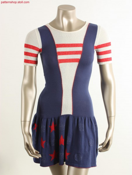 Fully Fashion Intarsia cheerleader dress / Fully Fashion Intarsia Cheerleader Kleid