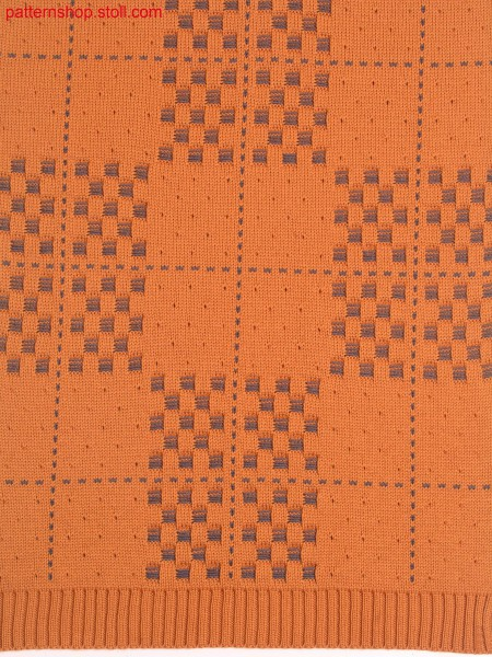 Cross tubular relief jacquard with floats / Kreuzschlauch-Reliefjacquard mit Flottungen