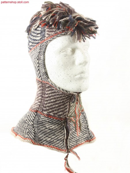 Balaclava with mock horizontal sewing / Sturmhaube mit eingen
