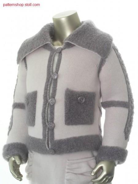 FF children's cardigan with patch pockets / FF Kinderstrickjacke mit aufgesetzten Taschen