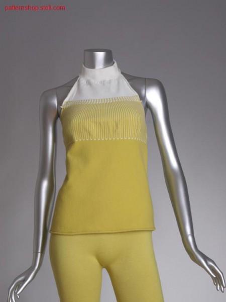 Fully fashion intarsia halterneck top / Fully Fashion Intarsia Neckholder-Top