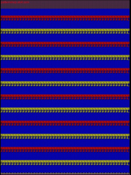 Jersey swatch with colour and structure stripes / Rechts-Links Musterabschnitt mit Farb- und Strukturringeln