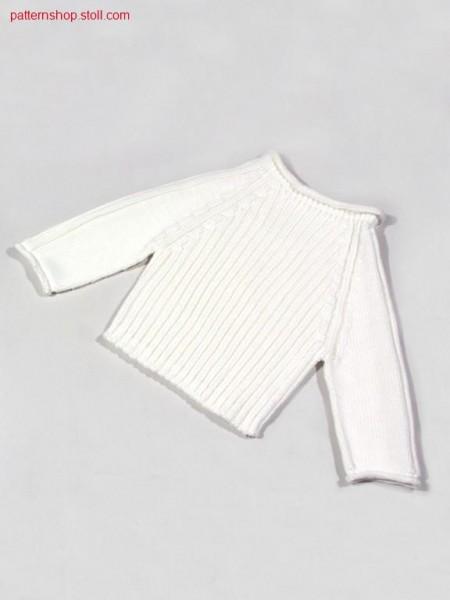 Children's raglan pullover in 2x2 rib / Kinder Raglanpulloverin 2x2 Rippe