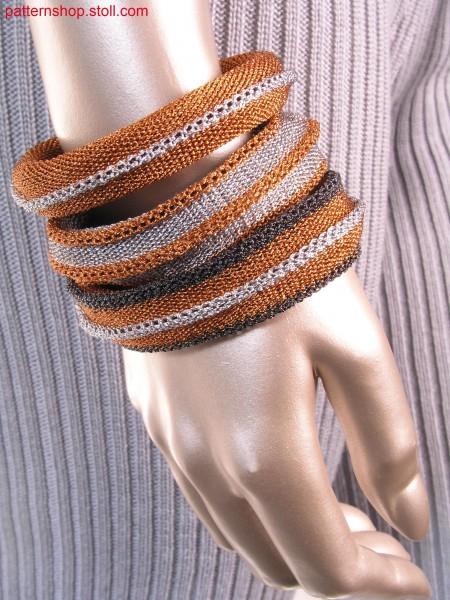 Bracelets in interlock-tubular fabric / Armreifen in Interlock-Schlauch Gestrick