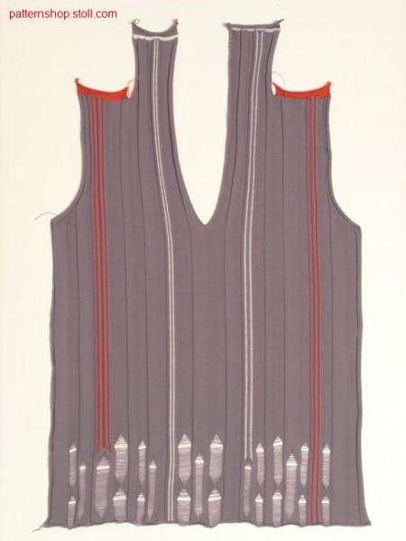 FF-rib front with knitted on napeline / FF-Ripp Vorderteil mit angestrickter Nackenlinie