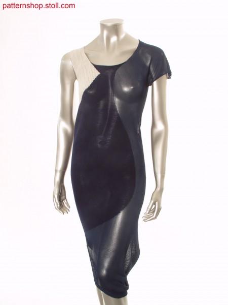 Asymmetrical intarsia dress, shaped by gore technique / Asymmetrisches Intarsia Kleid mit Spickeltechnik geformt