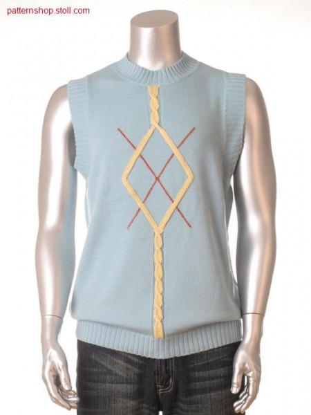 Fully Fashion-Intarsia slipover / Fully Fashion-Intarsia Pullunder