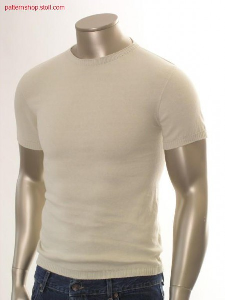 Jersey T-shirt with inserted sleeves / Rechts-Links T-Shirt mit eingesetzten
