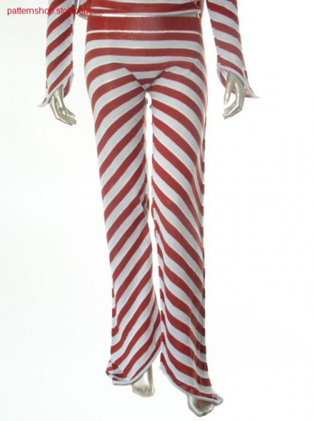 Ringed trapeze-shaped jersey trousers / Geringelte trapezf