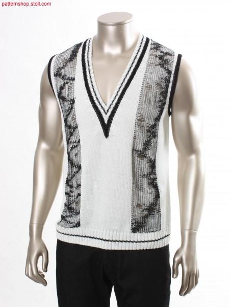 Fully Fashion slipover with deep V-neck / Fully Fashion Pullunder mit tiefem V-Ausschnitt